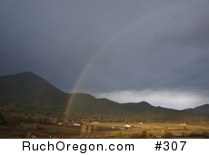 End of Double Rainbows - Ruch, Oregon  by kennygadams