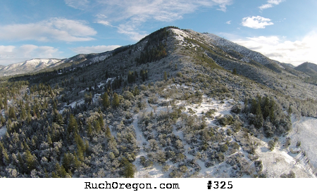 Snow on Squires Peak from Ruch, Oregon by kennygadams